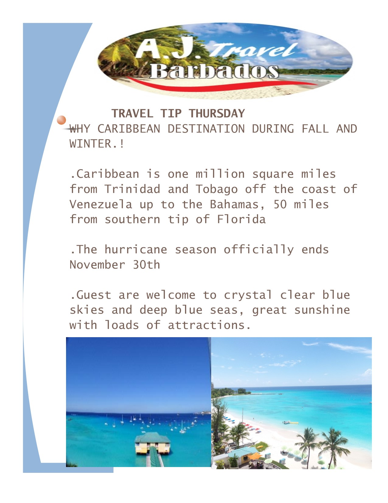 why Caribbean travel tip